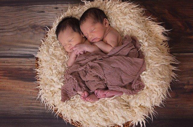 novorozená dvojčátka