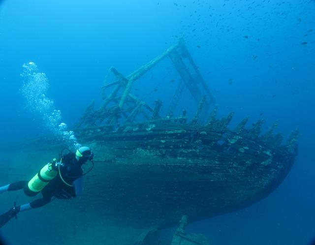 potápěč u vraku