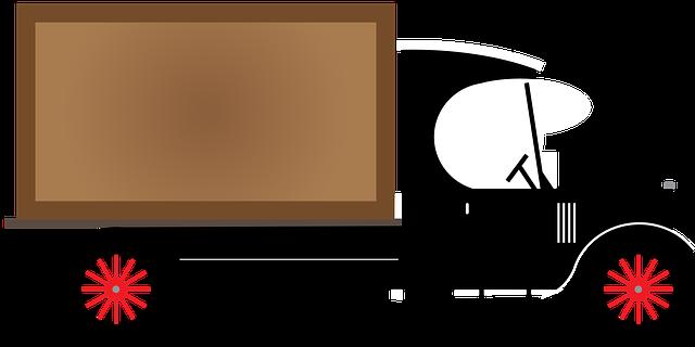 Kresba zastaralého dodávkového vozidla