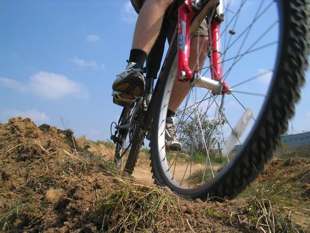 horské kolo v terénu