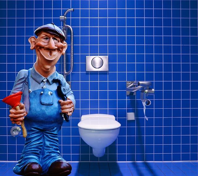 instalatér v koupelně
